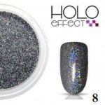 efekt HOLO grafit grey black #8 nr 8 pyłek syrenka do wcierania effect holograficzny multikolor