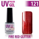 121.Fire Red Glitter Allepaznokcie LUX 15ml
