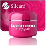 metallic 10 Pink base one żel kolorowy gel kolor SILCARE 5 g