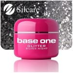 glitter 9 Silver Night base one żel kolorowy gel kolor SILCARE 5 g