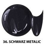 36 Schwarz Metalica żel kolorowy NTN 5g 5ml new technology nails