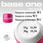 base one żel bianco W2 neve 15g noname silcare