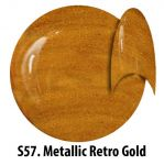S57 Metallic Retro Gold żel kolorowy NTN 5g 5ml new technology nails