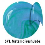 S71 Metallic Fresh Jade żel kolorowy NTN 5g 5ml new technology nails