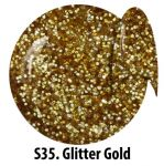 S35 Glitter Gold żel kolorowy NTN 5g 5ml new technology nails