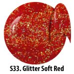 S33 Glitter Soft Red żel kolorowy NTN 5g 5ml new technology nails