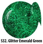 S32 Glitter Emerald Green żel kolorowy NTN 5g 5ml new technology nails