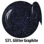 S31 Glitter Graphite żel kolorowy NTN 5g 5ml new technology nails