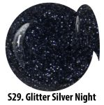 S29 Glitter Silver Night żel kolorowy NTN 5g 5ml new technology nails
