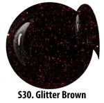 S30 Glitter Brown żel kolorowy NTN 5g 5ml new technology nails