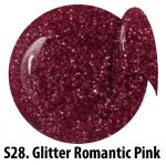 S28 Glitter Romantic Pink żel kolorowy NTN 5g 5ml new technology nails