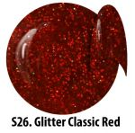 S26 Glitter Classic Red żel kolorowy NTN 5g 5ml new technology nails