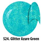 S24 Glitter Azure Green żel kolorowy NTN 5g 5ml new technology nails