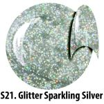S21 Glitter Sparkling Silver żel kolorowy NTN 5g 5ml new technology nails