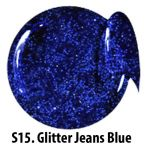 S15 Glitter Jeans Blue żel kolorowy NTN 5g 5ml new technology nails