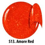 S13 Glitter Amore Red żel kolorowy NTN 5g 5ml new technology nails