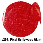 S206 Pixel Hollywood Glam żel kolorowy NTN 5g 5ml new technology nails blackpiatek