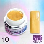 10 Kurkuma żel NTN metaliczny metallic colour uv gel kolorowy do paznokci blackpiatek