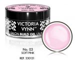 Żel budujący Victoria Vynn Soft Pink No.003 SALON BUILDer GEL 15 ml vinn
