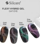 Gold Pink CAT EYE hybryda FLEXY Silcare 4,5g flexi kocie oko